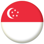 Singapore Country Flag 58mm Button Badge